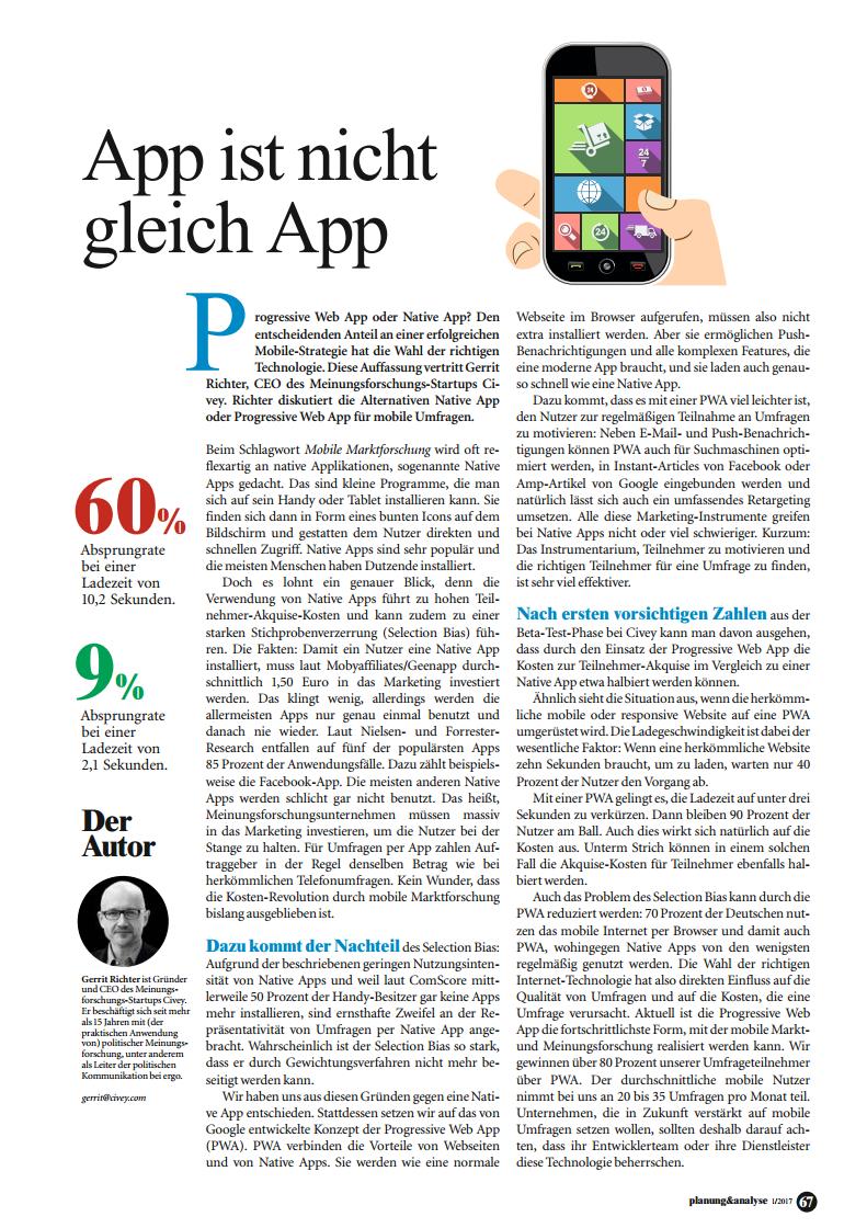 App ist nicht gleich App