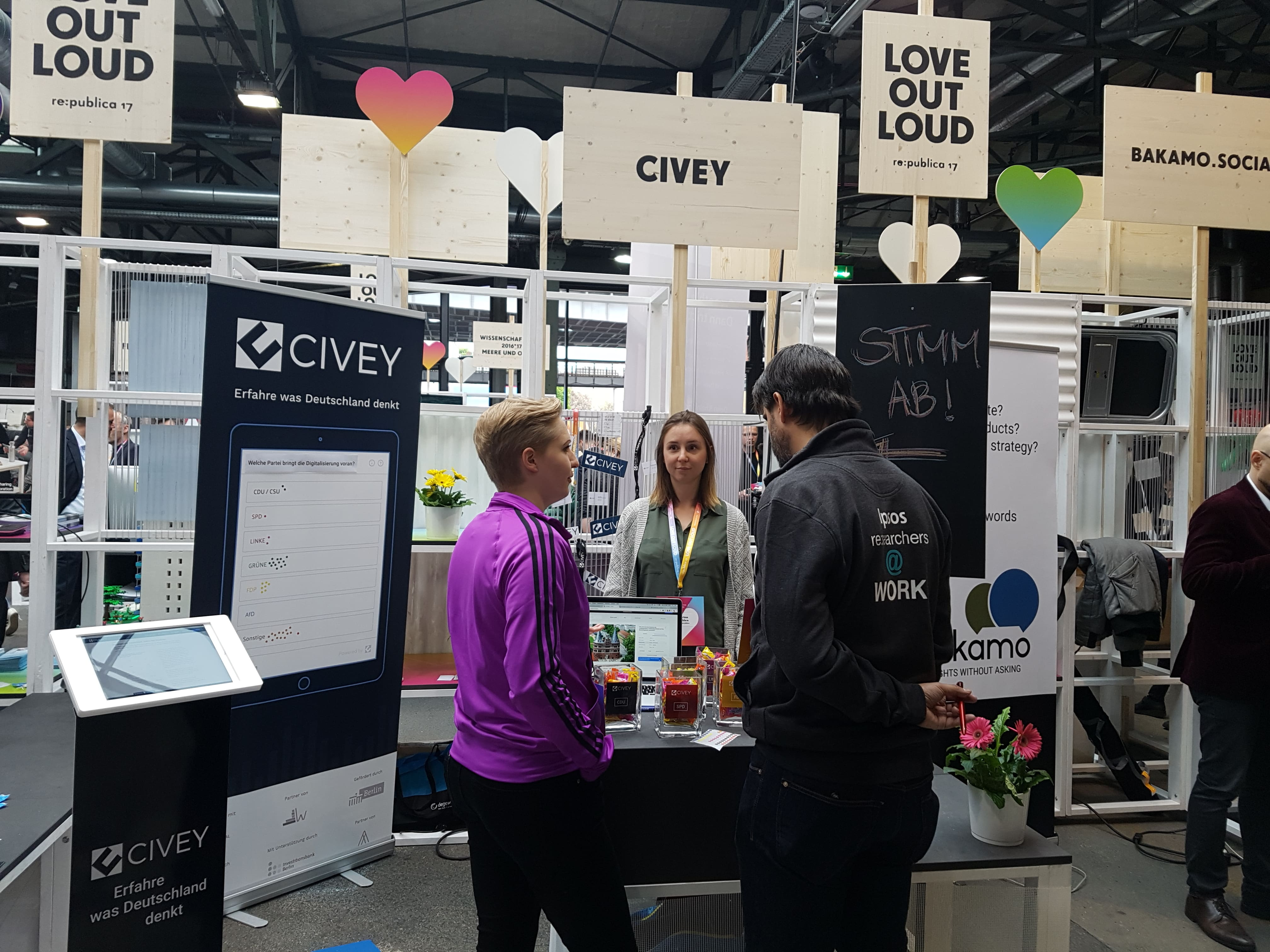 Civey-Stand auf der re:publika
