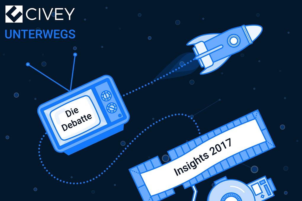 Civey unterwegs: Insights 2017 & die Debatte